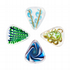 Glass Tones Mixed Pack of 4 Guitar Picks